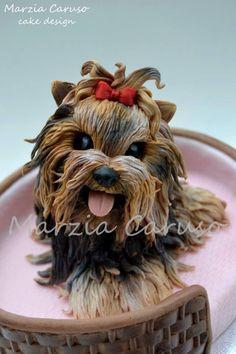 Even though this cake is really cool I would feel awful eating it!!! It actually looks like a dog! LOL