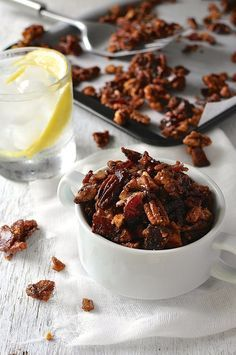 Man Candy: Candied Bacon and Nuts with a touch of spice. Be careful who you make this for!
