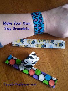 Make Your Own Slap Bracelet - Toys In The Dryer