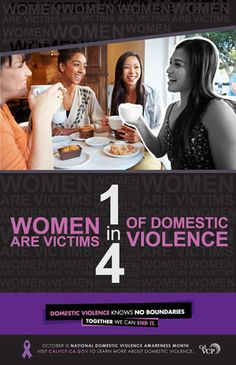 1 in 4 Women and 1 in 7 Men are Victims of Domestic Violence.