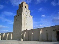 Mezquita, Grande, Torre, Kairouan, Túnez