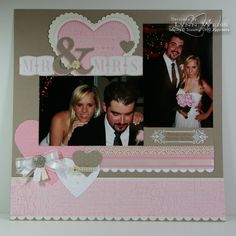 LW Designs: Mr & Mrs Scrapbook Page  Wedding