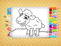 This coloring book provides beautiful pictures for toddlers and preschoolers to paint, draw and color. Educational App on iphone, ipad and android. Free Easter Coloring Pages, Easter Colouring, Printable Coloring Pages, Coloring Books, Cool Kids, Kids Fun, Color Games, Educational Crafts, Toddler Preschool