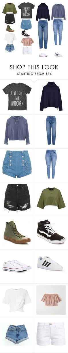 """Casual"" by mc-crusher on Polyvore featuring Ille De Cocos, Miss Selfridge, Yves Saint Laurent, Pierre Balmain, Topshop, Converse, Vans, adidas, T By Alexander Wang and Abercrombie & Fitch"