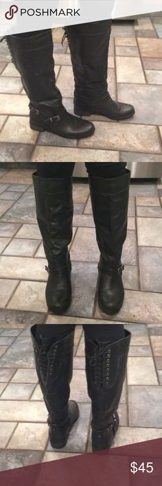 Rider boots!! NWOT!! Black rider boots! XOXO Shoes Combat & Moto Boots