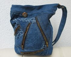 Recycled denim and zips