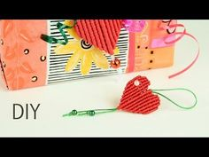 Gift from Heart - Easy Macrame tutorial for beginners. #DIYheart #macrametutorial  videotutorial http://www.macrameschool.com/resources/projects/250-gift-heart  https://www.youtube.com/watch?v=bzr9BCf2Tmw