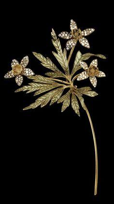Antique Art Nouveau Flora Jewelry