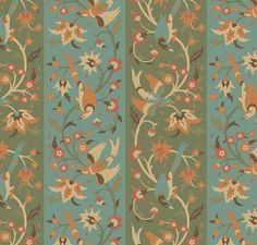 Islamic Birds, Blue Green | Custom digital wallpaper and borders
