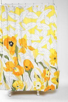 Falling Daffodils Shower Curtain