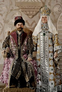 The last Tzar of Russia, Nicholas II and Tzarin Alexandra Feodorovna - 1896
