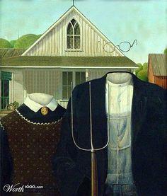 """PARODIES de """"American gothic"""" - Le blog de sixfrancs 21"""