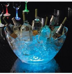 For Outside Party's Bury Glow sticks In Ice!