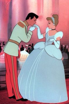 Cinderella - At the ball, the Prince Charming (William Phipps) rejects every girl (especially the stepsisters), until he sees Cinderella. The two fall strongly in love and dance alone throughout the castle grounds until the clock starts to chime midnight.