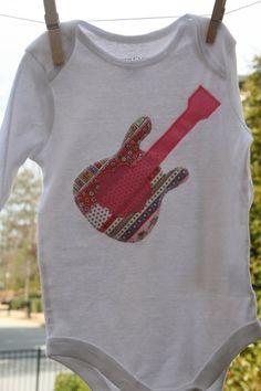 Rock n Roll Guitar Onesie. LOVE!