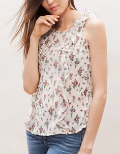 Top volantes estampado - 15,95