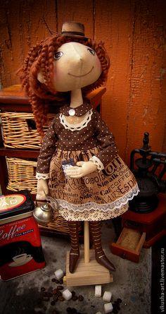 Кукла Амели. Любительница кофе и шоколада! Handmade. $92