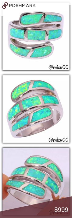 Coming Soon- Green Fire Opal 925 Sterling Ring! Arriving Soon!  *NO TRADES *Prices are FIRM-Listed at Lowest Price Unless BUNDLED! *Sales are Final-Please Read Descriptions! Boutique Jewelry Rings
