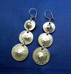 A personal favorite from my Etsy shop https://www.etsy.com/listing/253875479/peruvian-coin-fishhook-earrings-from
