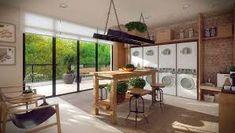 En un cohousing, la lavandería comunitaria es una de las zonas comunes importantes. Está equipada con lavadoras, secadoras, espacio para tender y planchar.