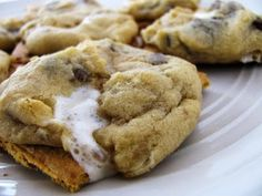Campfire cookies . . . just like s'mores without the mess! These bake in the oven any time of the year in any weather!