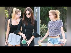 Kendall Jenner, Gigi Hadid And Cara Delevingne Hanging Out - YouTube