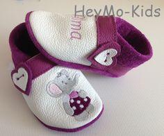 Krabbelschuhe   *Elefant* von HeyMo Kids auf DaWanda.com