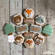Fancy Cookies, Sugar Cookies, Frosted Cookies, Moose Cake, Hedgehog Cookies, Cookie Designs, Cookie Ideas, First Birthday Cookies, Small Batch Baking