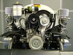 1968 Porsche 912 motor with air conditioning compressor