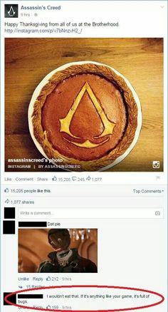 Assassin's Creed Pie anyone?? Lolz x)