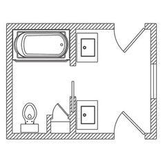 21 Bathroom Floor Plans for Better Layout Small Bathroom Floor Plans, Small Bathroom Layout, Bathroom Design Layout, Bathroom Designs, Girl Bathrooms, Ideal Bathrooms, Bathroom Kids, Lake Bathroom, Shared Bathroom