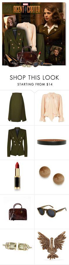 """Agent Carter"" by petri5 ❤ liked on Polyvore featuring Atwell, Gucci, Chloé, Balmain, Hermès, L'Oréal Paris, Handle, CÉLINE, Lanvin and vintage"