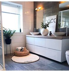 Have a nice relaxing evening all! Gorgeous bathroom designed by 🖤🙌🏻 . Bathroom Styling, Bathroom Interior Design, Interior Design Living Room, Ikea Interior, Cottage Style Bathrooms, Zen Bathroom, Guys Bathroom, Asian Bathroom, Japanese Bathroom