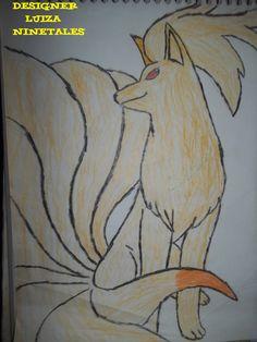 Ninetales Pokémon desenho à lápis