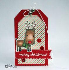 Kelly's Papercrafting: Polka Dot Christmas Tag