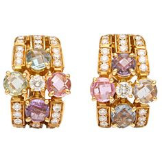 Use a Jewelry Armoire To Store Your Precious Jewelry Pieces Bulgari Jewelry, Gemstone Jewelry, Jewelery, Bvlgari Earrings, Alexandrite Jewelry, Sapphire And Diamond Earrings, High Jewelry, Jewelry Stores, Jewelry Armoire