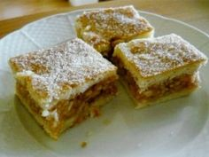 Falusi almás pite | NOSALTY Hungarian Desserts, Hungarian Cake, Hungarian Recipes, Hungarian Food, No Bake Desserts, Healthy Desserts, Graham Crackers, Apple Pie, Food To Make