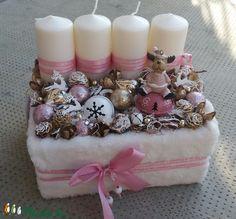Christmas Deco, Winter Christmas, Xmas, Advent Wreaths, Home Decor, Candle Arrangements, Creative, Christmas Decor, Decoration Home