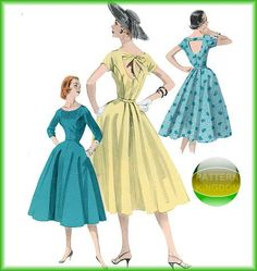 1950s High Fashion Retro Dress & Belt Patterns