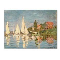 Claude Monet 'Regatta at Argenteuil' Canvas Art   Overstock.com Shopping - Top Rated Trademark Fine Art Canvas