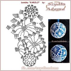Knitting Patterns Christmas Photo only - Salvabrani - SalvabraniAntonella Balzano's media content and analytics.crochet patterns in thread - SalvabraniBeautiful eggs with crochet - Salvabrani Crochet Christmas Decorations, Crochet Decoration, Crochet Ornaments, Christmas Crochet Patterns, Holiday Crochet, Crochet Snowflakes, Handmade Ornaments, Christmas Crafts, Crochet Diagram
