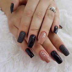 Gel Uv Nails, Best Acrylic Nails, Simple Acrylic Nails, Acrylic Nail Designs, Nail Manicure, Stylish Nails, Trendy Nails, Cute Nails, Perfect Nails