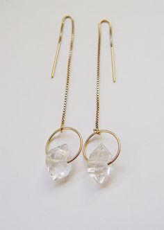 AUF Verkauf Herkimer Diamant Goldkette Ohrringe von friedasophie