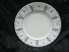 Winterling Oscar Schaller Strawflower Blue White Dinner Plates 1909 - 1918 Rare