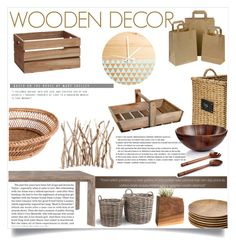 """""""Wooden decor"""" by andreastoessel ❤ liked on Polyvore"""
