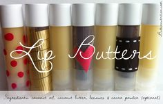 DIY Lip Butters with ONLY 3 required ingredients! All natural! | Butter Nutrition