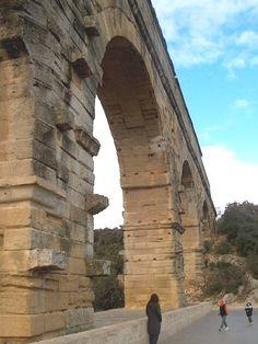 The 2,000-year old  Roman aqueduct at Pont du Gard  Arles France