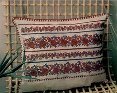 Palóc párna.  In: Fürge Ujjak. 1987. XXXI. évf. 1. sz. p. 19. Embroidery Motifs, Hungary, Folk Art, Bohemian Rug, Patterns, Rugs, Home Decor, Block Prints, Farmhouse Rugs