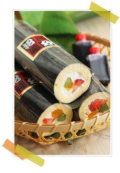 恵方巻きロールケーキ - Eho winding roll cake