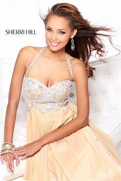 Long Halter Nude Prom Dress by Sherri Hill 3836 Nude Prom Dresses, Sherri Hill Homecoming Dresses, Prom Dress 2014, Nude Dress, Dresses 2014, Bridesmaid Dresses, Cheap Prom Dresses Online, Sweetheart Prom Dress, Chiffon Evening Dresses